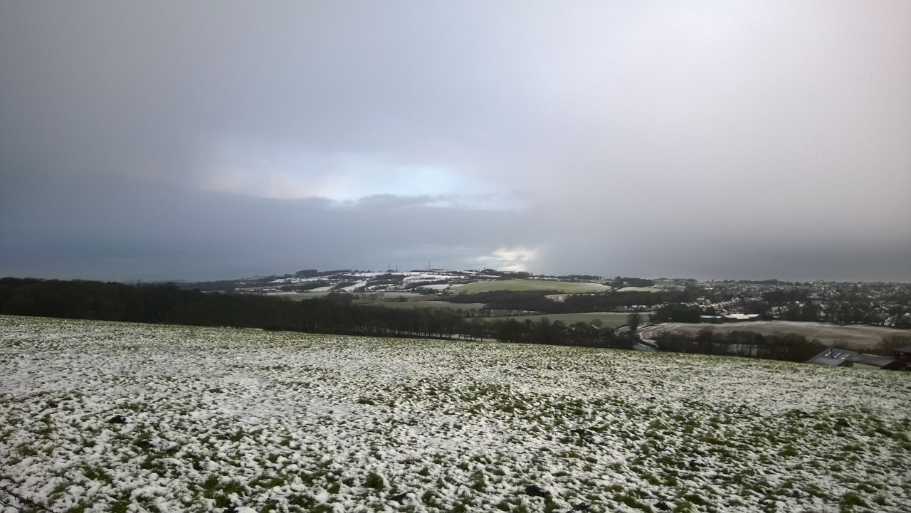 View of Billinge Hill Winter Scene from Birchely View